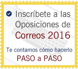 Inscríbete a las Oposiciones de Correos 2016