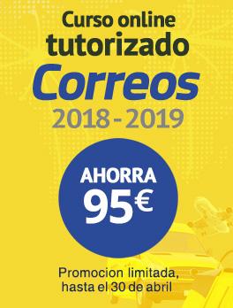Oferta Curso online tutorizado Correos 2018-2019