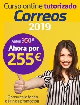 Oferta Curso online tutorizado Correos 2019