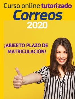 Oferta Curso online tutorizado Correos 2020