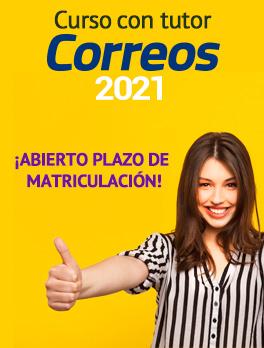 Oferta Curso online con tutor Correos 2021